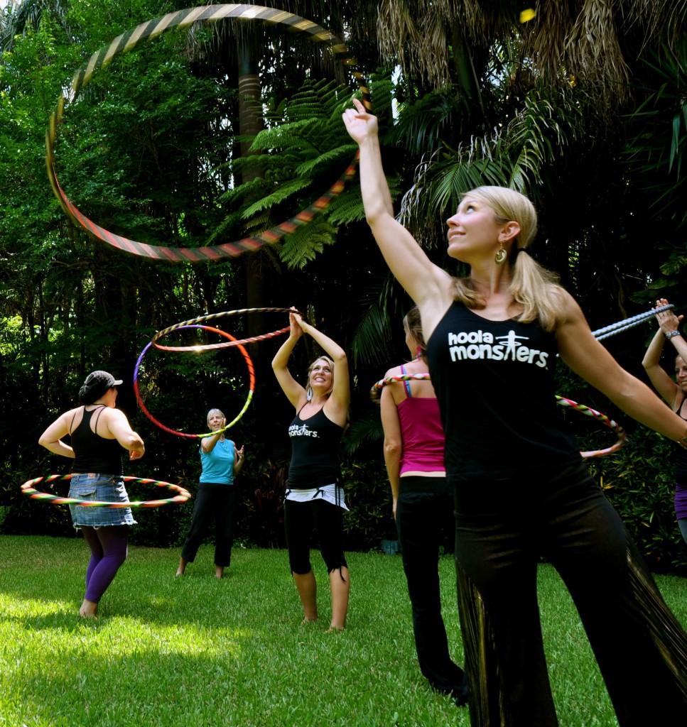 hula hooping: a fun social distancing workout